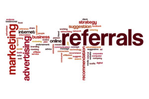 Referrals word cloud